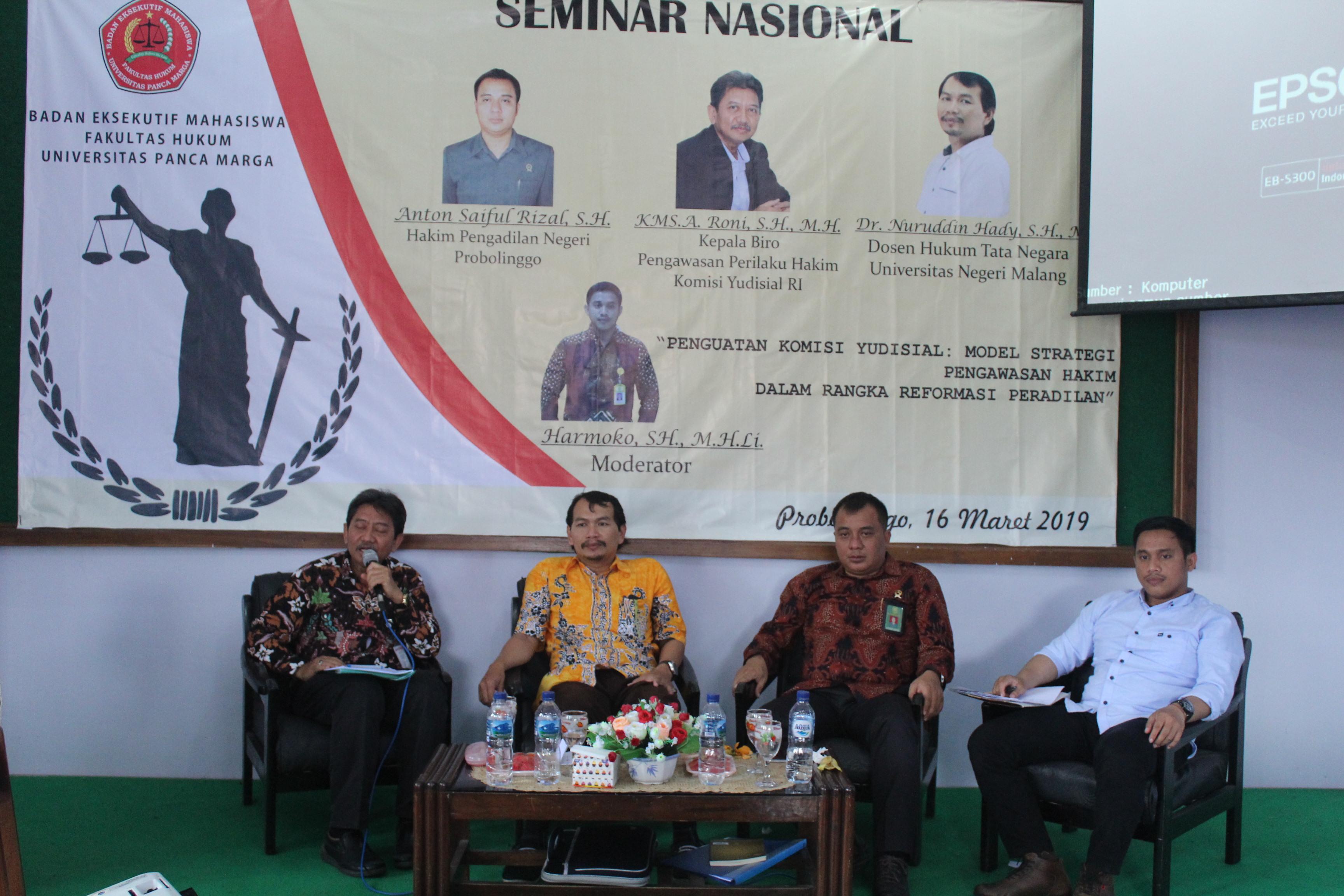 Seminar Nasional Penguatan Komisi Yudisial : Model Strategi Hakim,Pengawasan Hakim Dalam Rangka Reformasi Peradilan