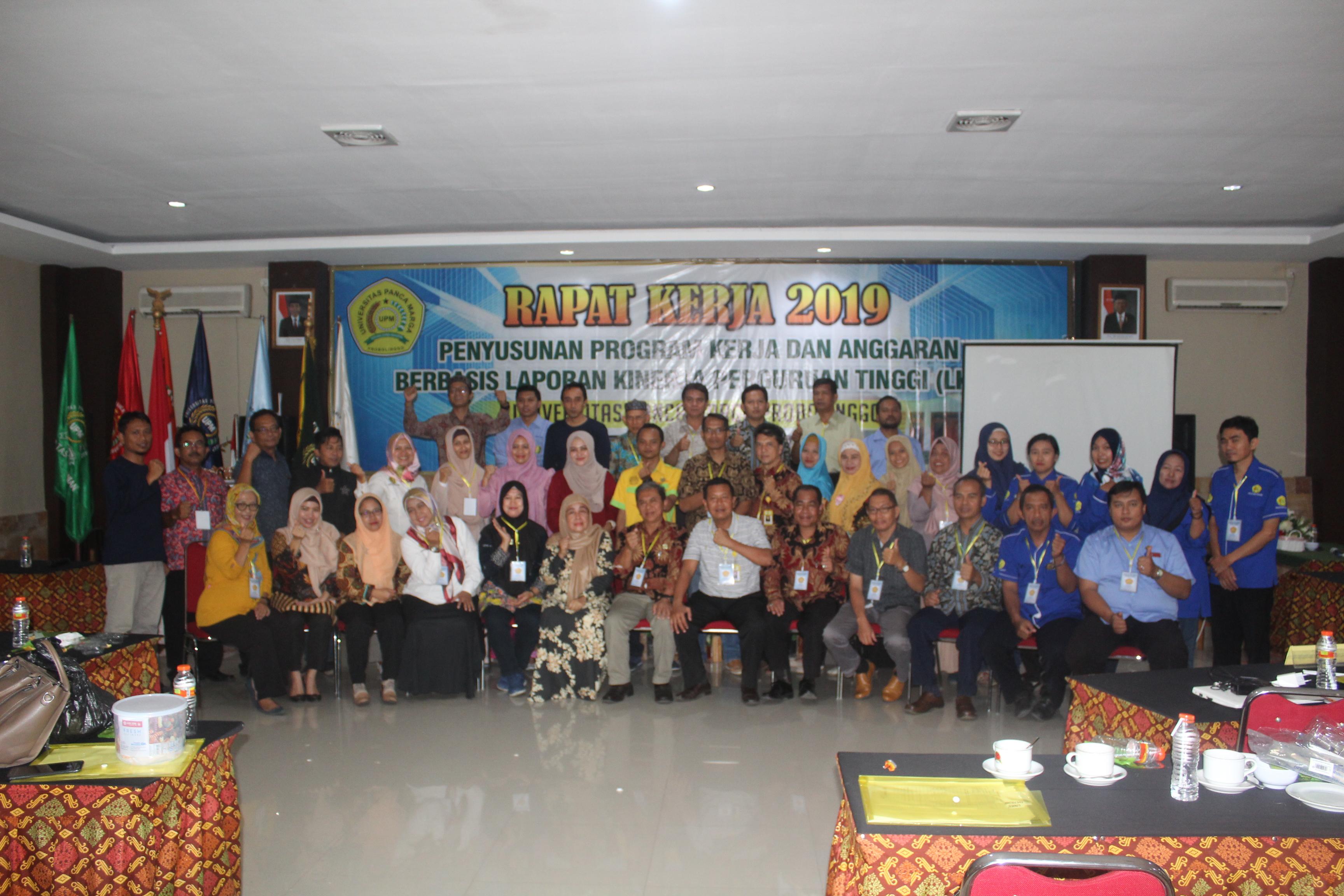 UPM Probolinggo gelar Rapat Kerja Penyusunan Program Kerja dan Anggaran T.A 2019-2020