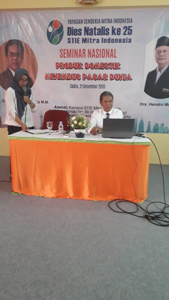 Rektor UPM menjadi Narasumber Seminar Nasional STIE Mitra Indonesia